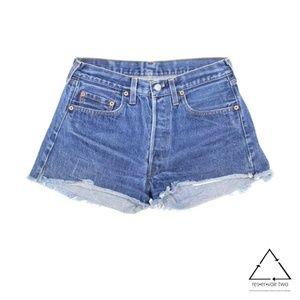 Vtg Levi 501 Redline Cut Off Jean Shorts High Wst